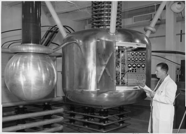 Atom smasher, Los Alamos, ~1960.