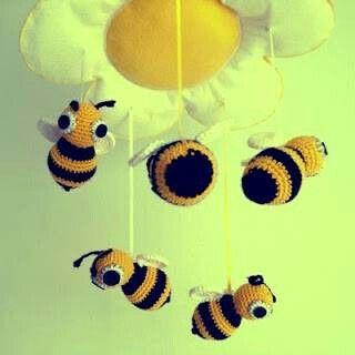 Colgante Margarita con sus abejas!!