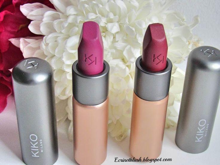 VELVET PASSION MATTE LIPSTICK de Kiko. Plus de détail sur cette gamme de rouge à lèvres sur le blog.