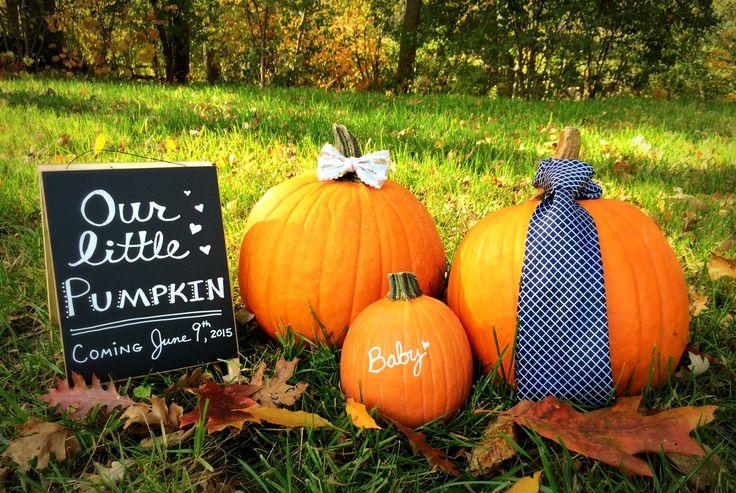 Super cute Little Pumpkin baby announcement