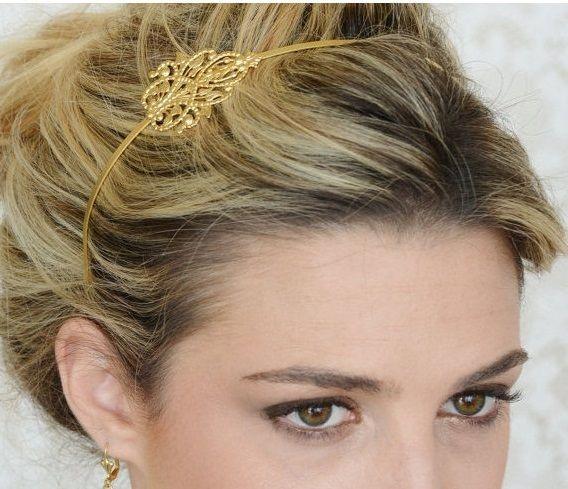goud haaraccessoires van Netaly Shany sieraden & accessoires op DaWanda.com