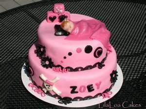 Punk Rock Baby shower cake
