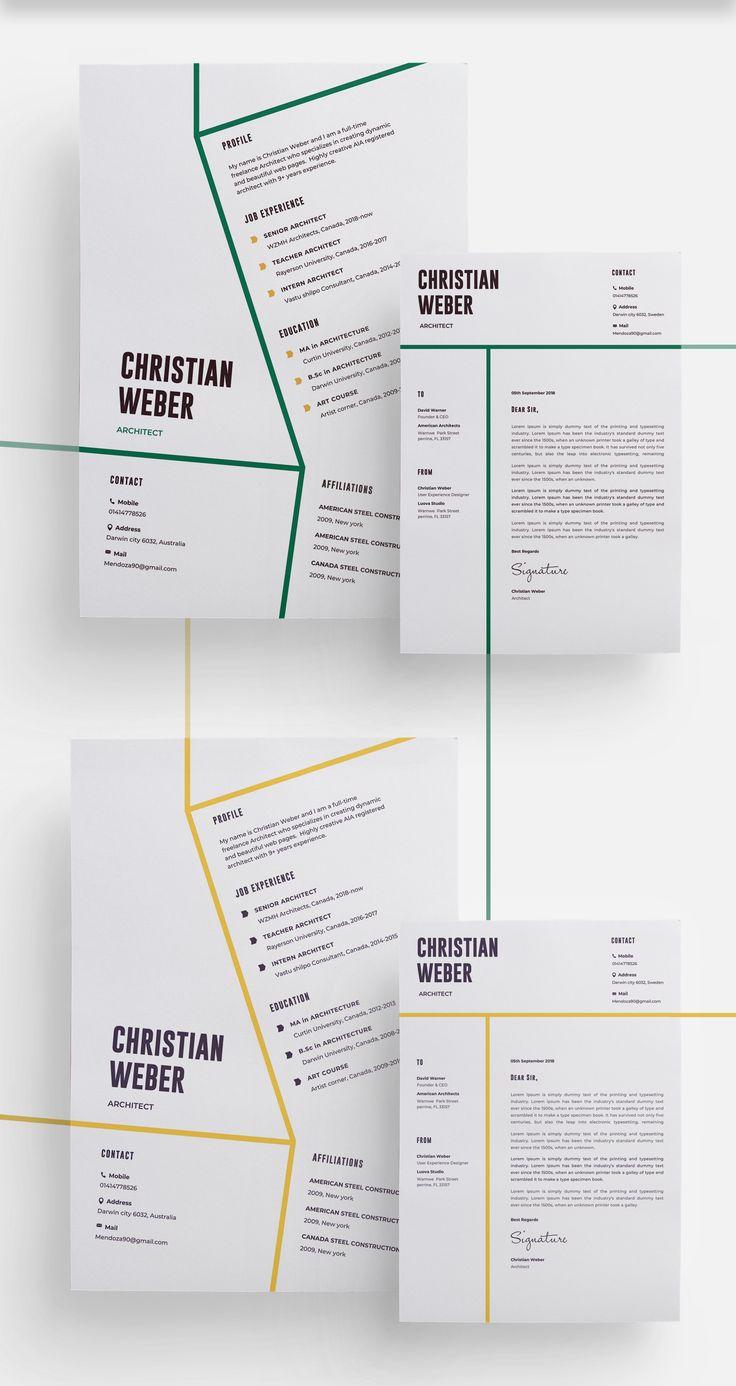 Architects CV/Resume Template Architect resume, Resume
