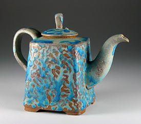 Steve Irvine  Thrown and altered teapot