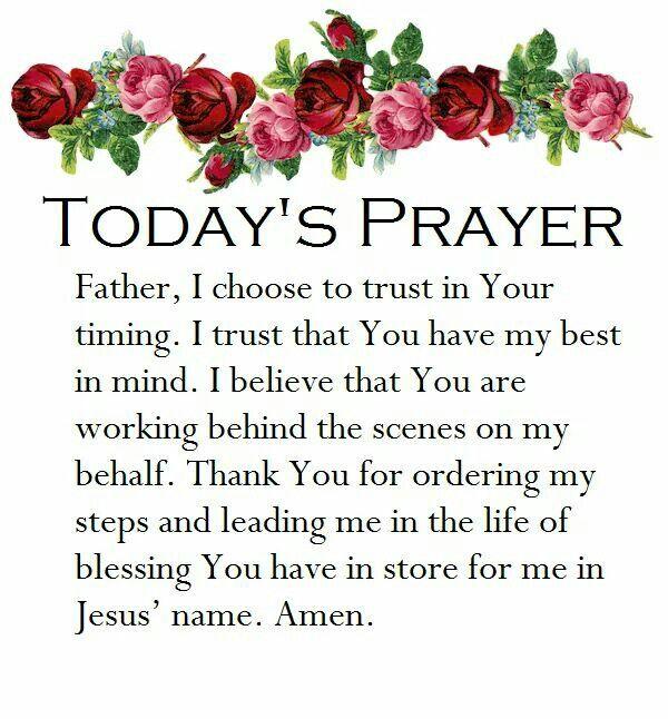 Today's Prayer Amen ❣