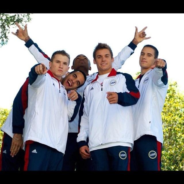 USA Olympics Men's Gymnastics Team 2012