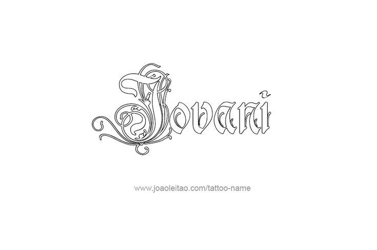 Tattoo Design  Name Jovani