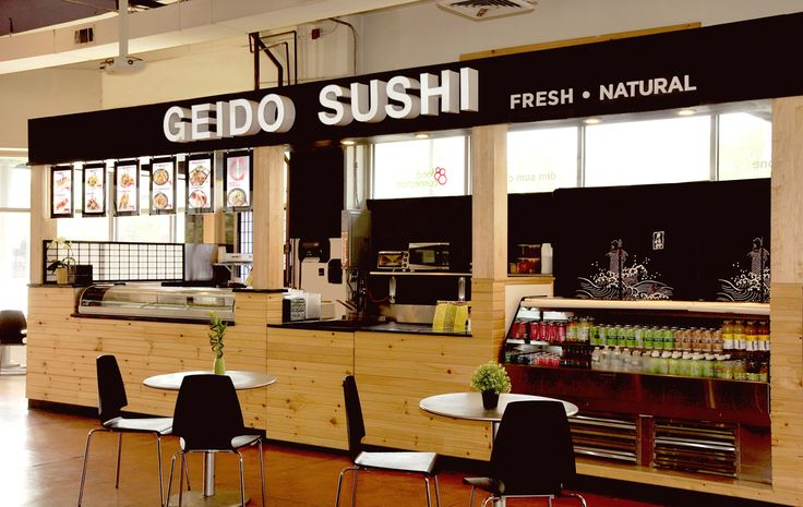 GEIDO SUSHI KIOSK  The design includes a sushi bar kiosk in the food court of ...
