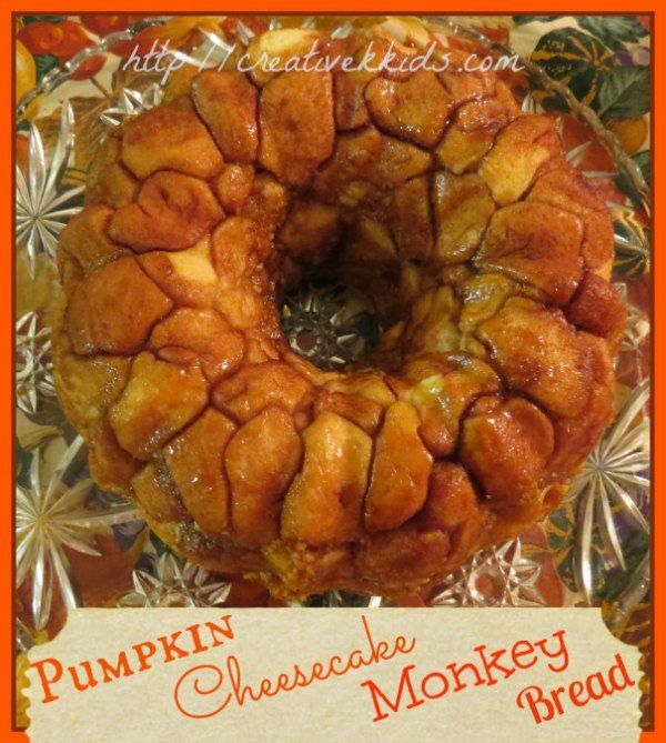 Pumpkin Cheesecake Monkey Bread--perfect for breakfast any day but especially for fall holidays!