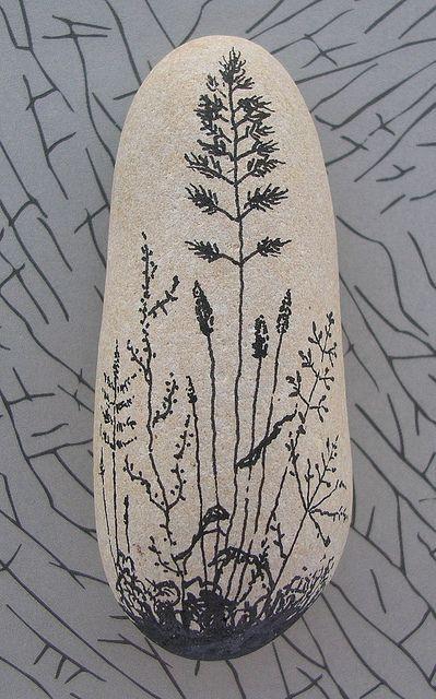 Cute rock painting.