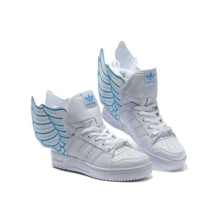 Fitted Men adidas x Jeremy Scott JS Wings 2.0 white blue For £84.19