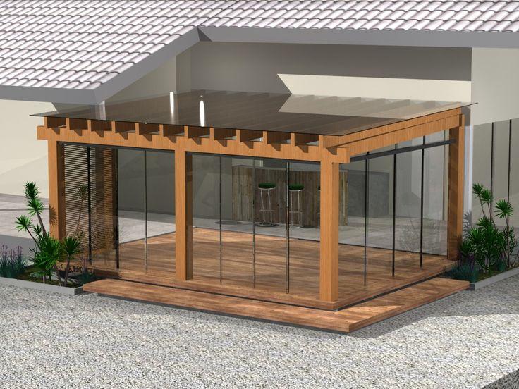 die besten 25 pergolado de vidro ideen auf pinterest. Black Bedroom Furniture Sets. Home Design Ideas