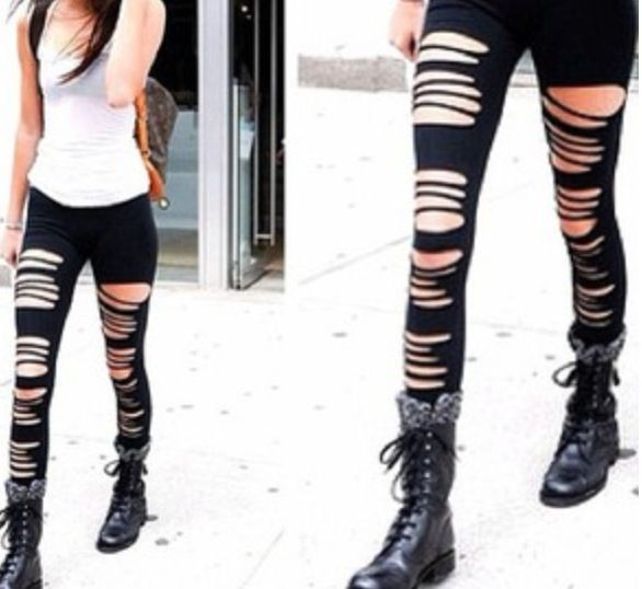 Ripped leggings   Fashion   Pinterest   Bikes For the and ...