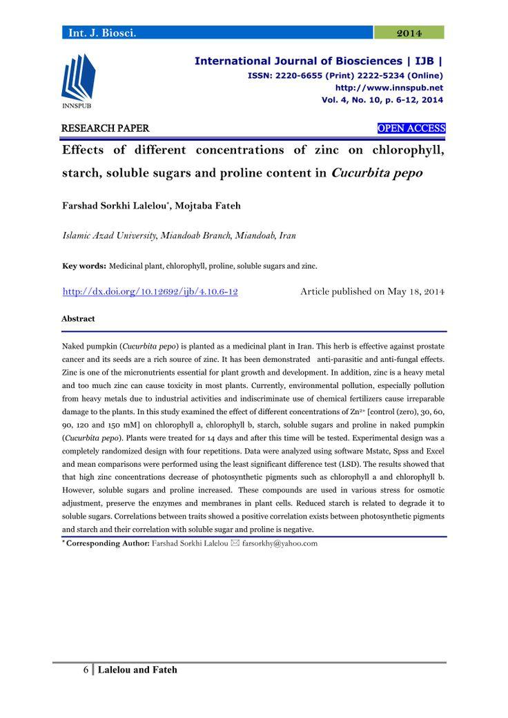 55 best International Journal of Biosciences (IJB) images on ...
