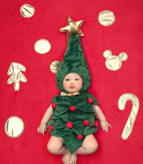 Promotion price Baby infant toddler Christmas tree costume photo props green hat+yellow bow tie bodysuit roupa fotografie new arrival just only $10.21 with free shipping worldwide  #babyboysclothing Plese click on picture to see our special price for you