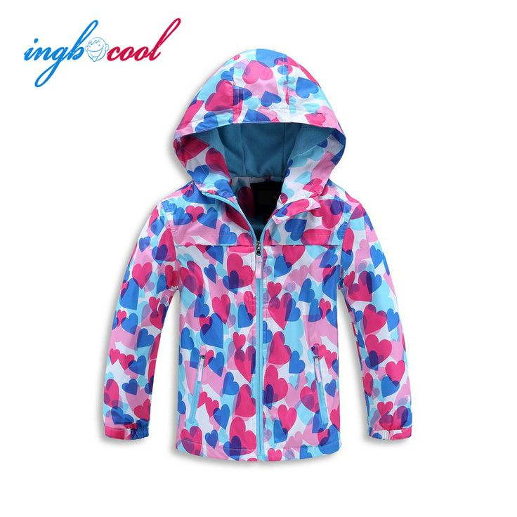 2016 New Baby Girls Coat Jacket Wind and Rain in Spring and Autumn Print Children Outerwear Clothing