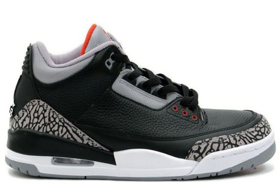 Nike Air Jordan 3 Black/Cement Grey - I had those as a kid.