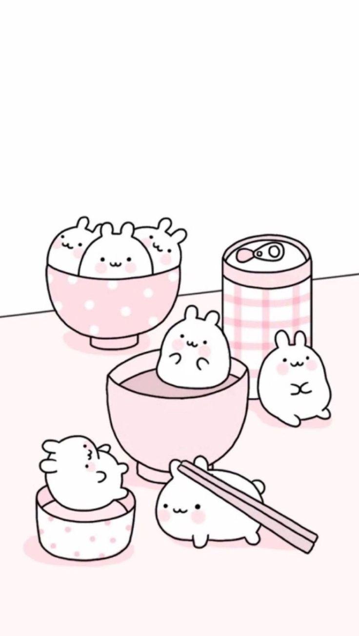 Wallpapers Fondos de Pantalla de Gatos Kawaii Tiernos HD Doodles Kawaii, Cute Kawaii Drawings, Cute Animal Drawings, Cute Doodles, Kawaii Art, Cute Pastel Wallpaper, Soft Wallpaper, Cute Patterns Wallpaper, Kawaii Wallpaper