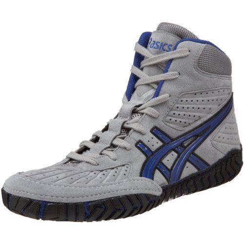 grey asics wrestling shoes