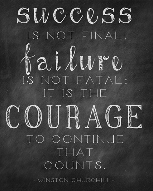 Image result for courage to continue that counts
