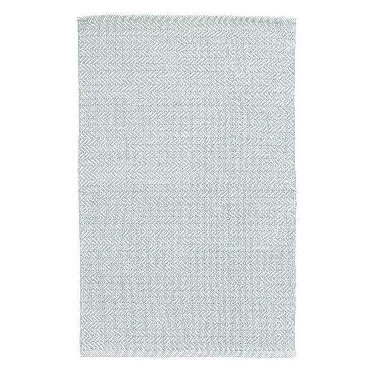 Dash & Albert Indoor/Outdoor Teppich Herringbone Light Blue/Ivory
