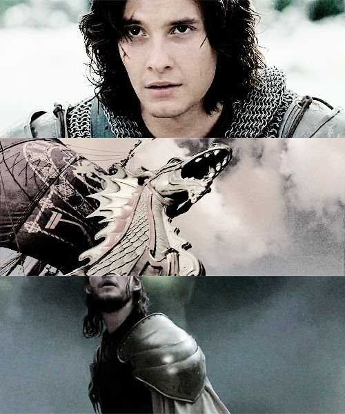 I know I've already pinned this but...top pic- one of the best hair scenes in the series for Caspian (Ben)