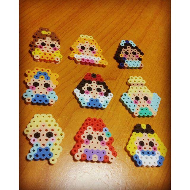 Disney Princess perler beads by  sayopitto