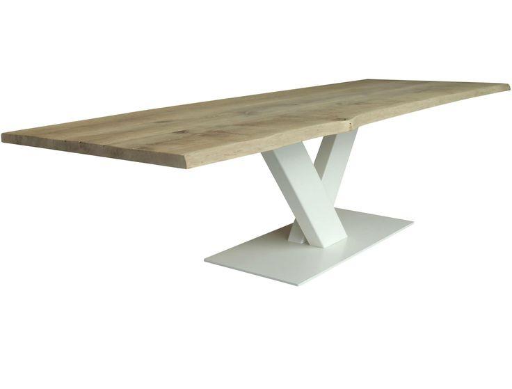 Tavolo saldatura ~ Tavolo di recupero vecchia porta di una stalla lavorata con gambe