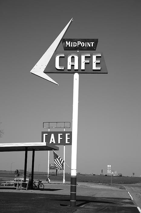 Route 66 - MidPoint Cafe, Adrian, Texas.