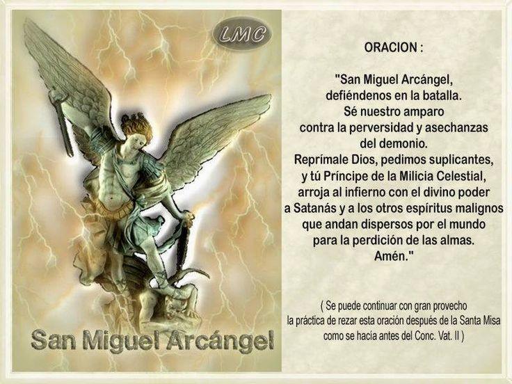 SANTORAL CATOLICO: ORACIÓN A SAN MIGUEL ARCÁNGEL