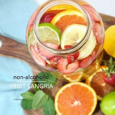 Looking for a cold and refreshing drink recipe for summer? This Non-Alcoholic Fruit Sangria Drink Recipe is perfect for you summer parties.