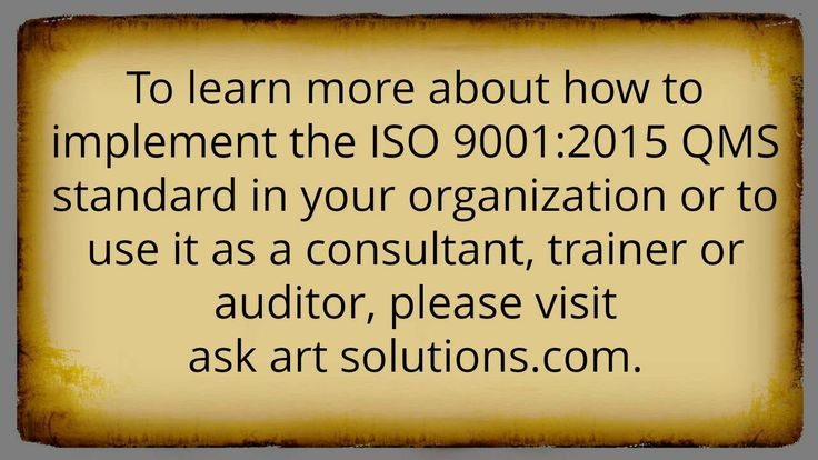 ISO 9001:2015 Consulting - Frequently Asked Questions Part 8