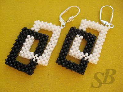 "Pendientes ""Geometría"": Beading, Koralikówdiy Beads, Wzory Biżuterii, Beads Earrings, Beadwork, Earrings Pattern, Серьги Геометрия, Beads Pattern, Koralików Diy Beads"
