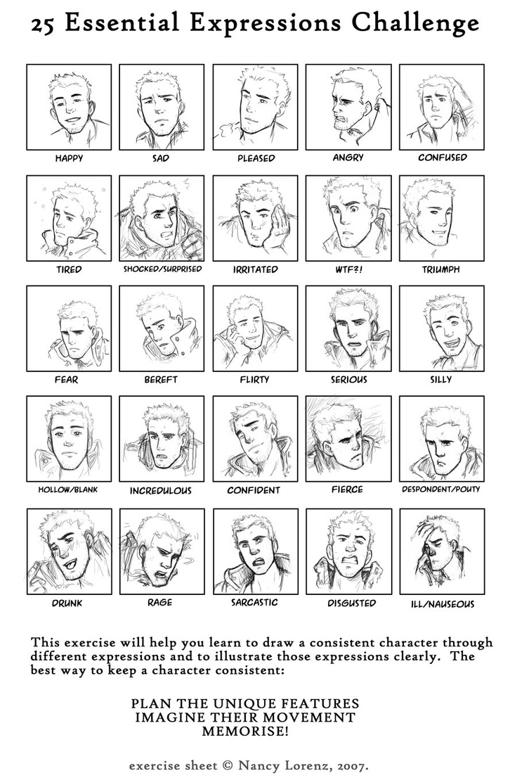 Character Design References Challenge Rules : Images about expressions challenge on pinterest
