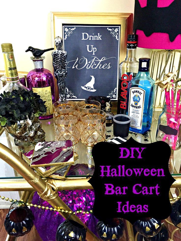 halloween bar cart ideas halloweenbarcart halloweenparty