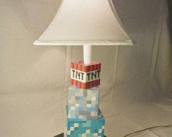 13 best minecraft bedroom decorations images on pinterest minecraft inspired desk lamp aloadofball Images