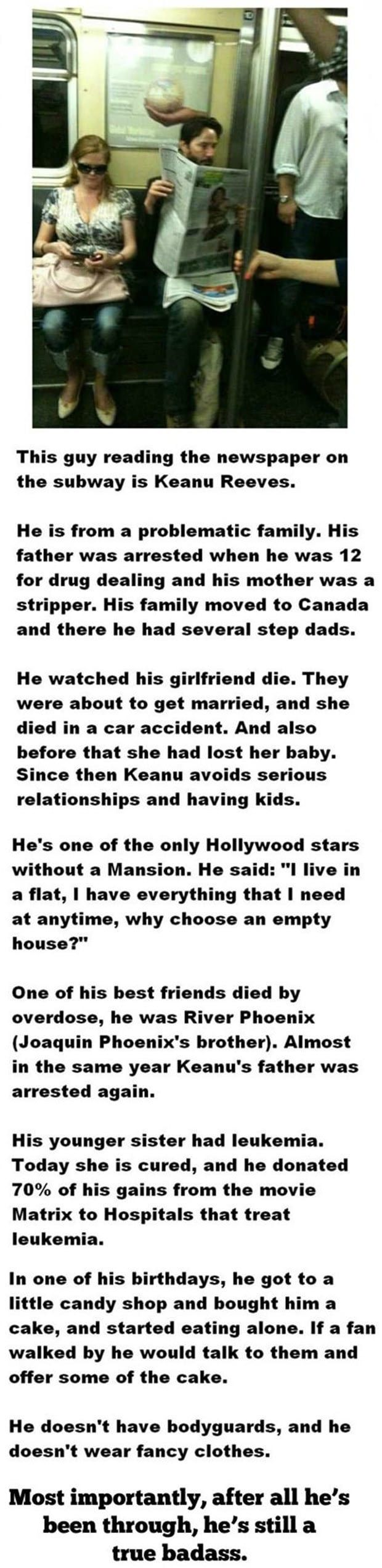 A story about Keanu Reeves