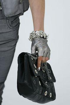 silver gloves