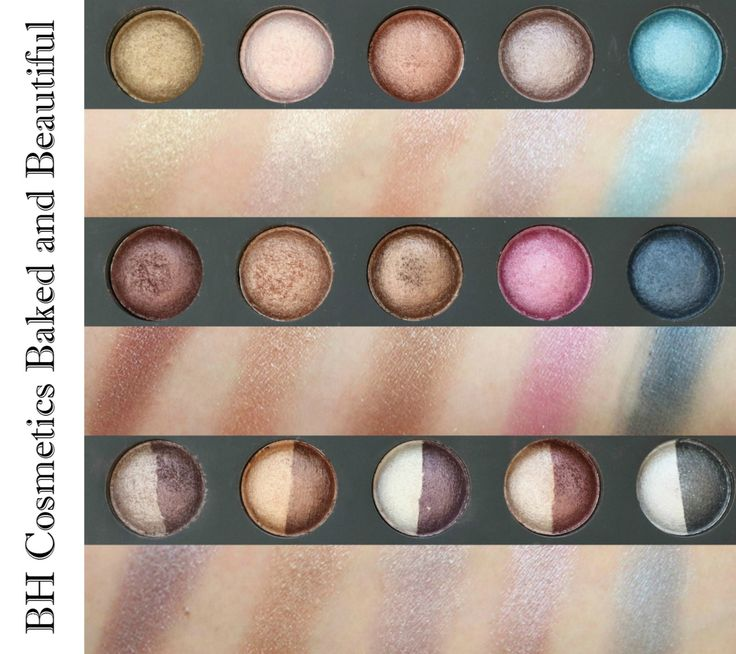 BH Cosmetics Baked & Beautiful Eyeshadow Palette Swatches