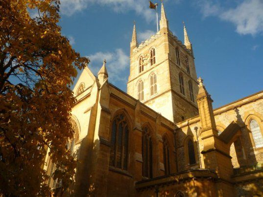 Southwark Cathedral, next to Borough Market in London