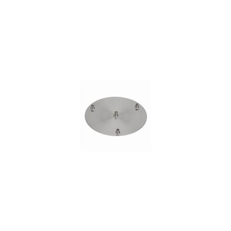 Cal Lighting CP3R-PN Line Voltage 3 Light Round Canopy Brushed Steel Indoor Lighting Track Lighting Accessories