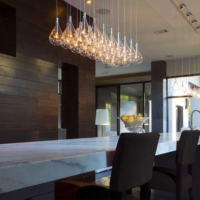 Kitchen modern pendant lighting above island design for Modern island pendant lighting