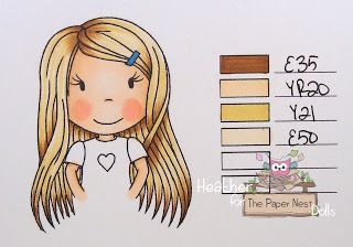 Heather Huggins - The Paper Nest Dolls - Copic Markers Hair Color
