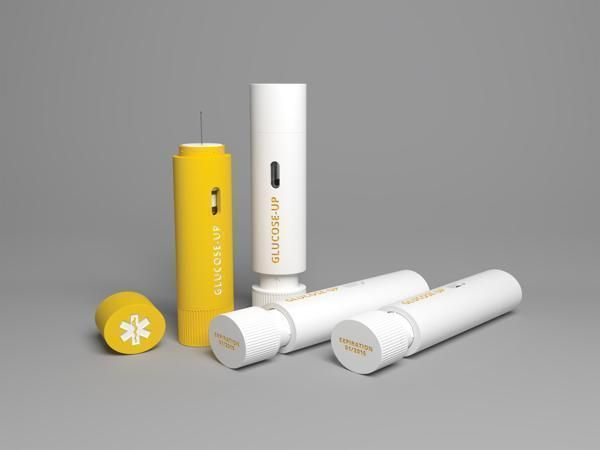 GLUCOSE-UP Glucagon First Aid Pen | design by Eva Jenčuráková