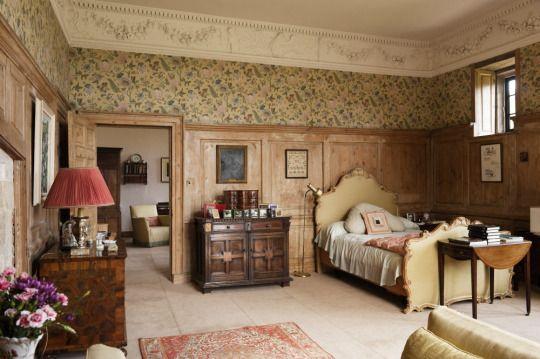 Lady Brunner's Bedroom at Greys Court, Oxfordshire