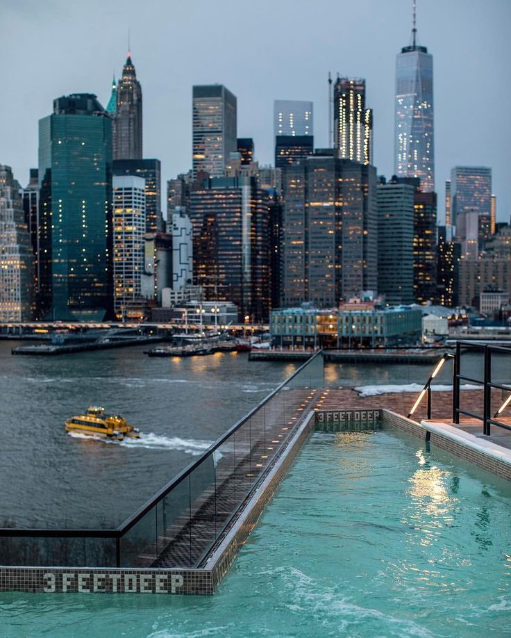 """16k Likes, 140 Comments - Elena (@pictures_of_newyork) on Instagram: """"Pool with a view  What a great shot by Sam @samhorine  #picturesofnewyork"""""""