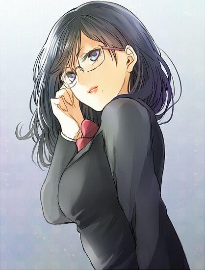 Tags: Blue Background, Kanameyura, Mole, Red Bow, Haikyuu!!, Shimizu Kiyoko