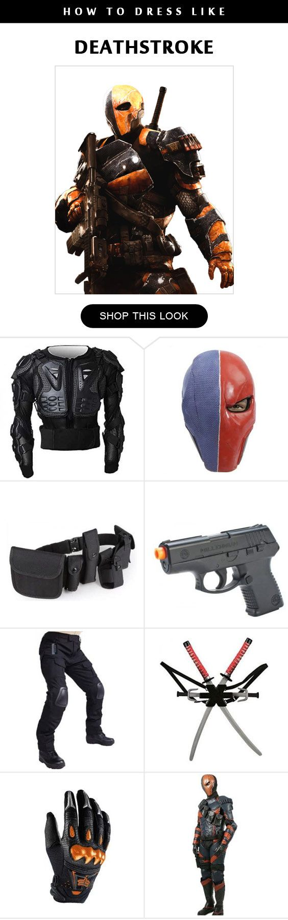 Deathstroke Cosplay Costume Infographic