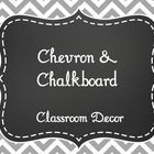 Gray+Chevron+and+Chalkboard+Classroom+Decor+Bundle.+(Over+200+pages!!)  What's+Included: Alphabet+line+(2+Versions:+Print++Cursive) Calendar+M...