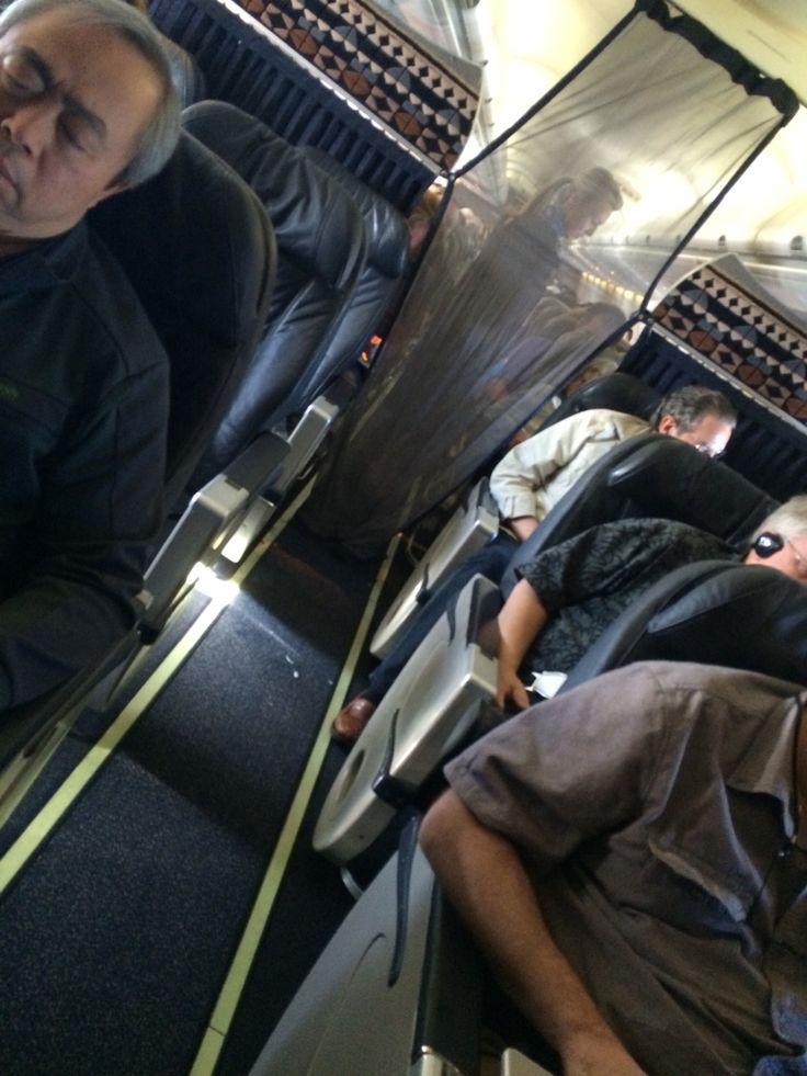 Alaska Airlines First Class 737 700 Curtain Snapped Shut